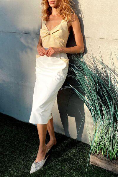 Платье c констрастным лифом KS_SS-22-37, фото 1 - в интеренет магазине KAPSULA