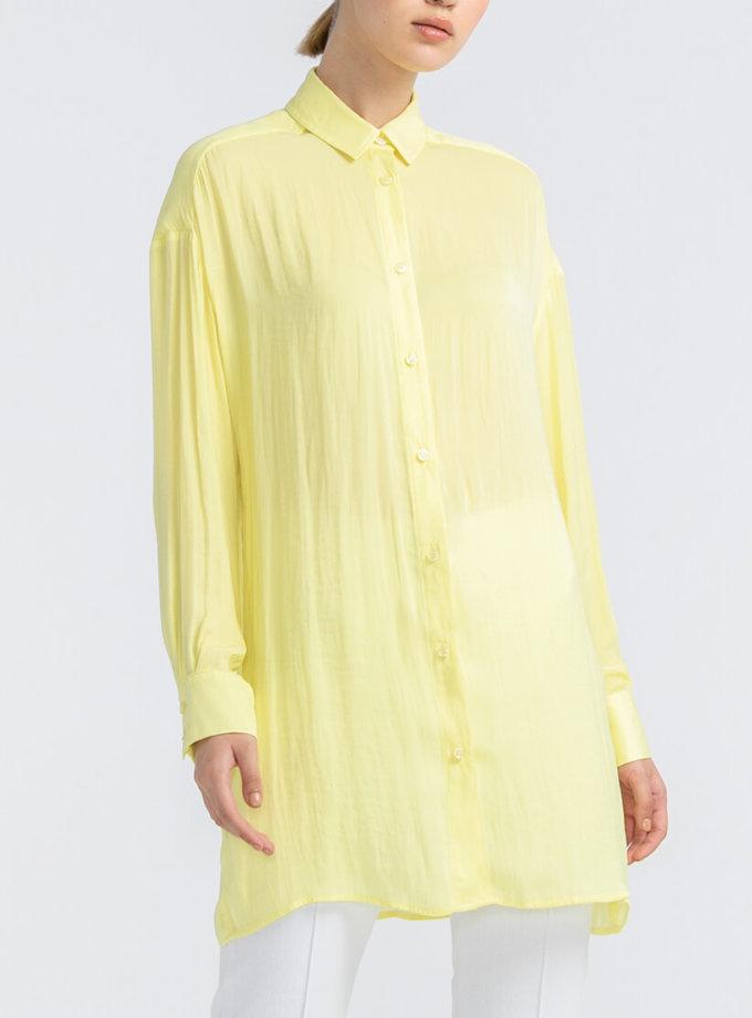 Полупрозрачная рубашка из шифона ALOT_020160, фото 1 - в интернет магазине KAPSULA