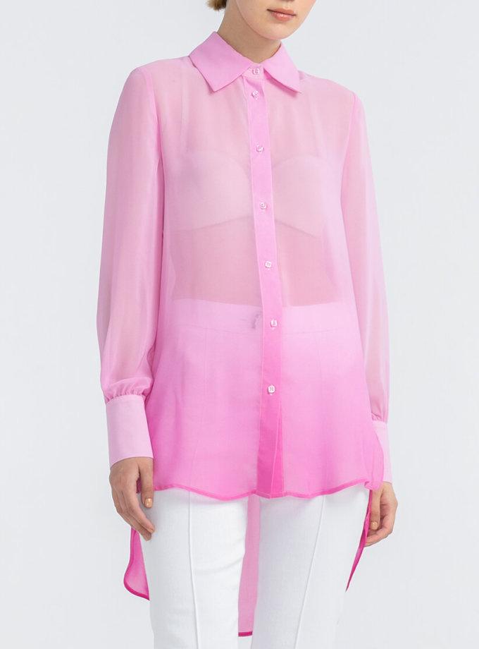 Удлиненная рубашка из шифона ALOT_020169, фото 1 - в интернет магазине KAPSULA