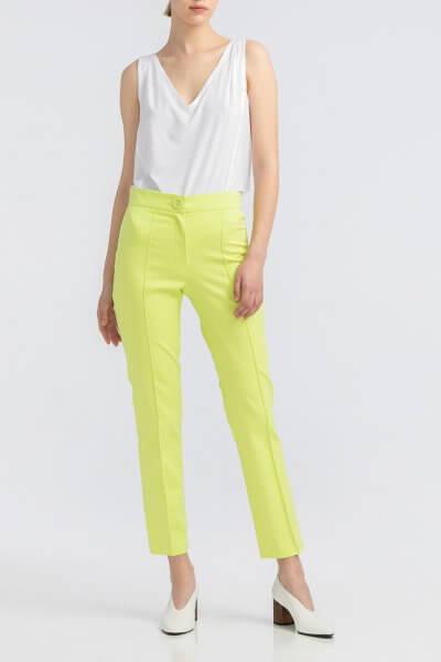 Неоново-салатовые котоновые  брюки ALOT_030077, фото 1 - в интеренет магазине KAPSULA