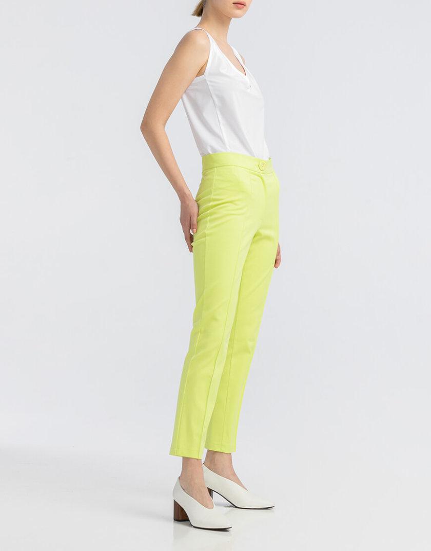 Неоново-салатовые котоновые  брюки ALOT_030077, фото 1 - в интернет магазине KAPSULA