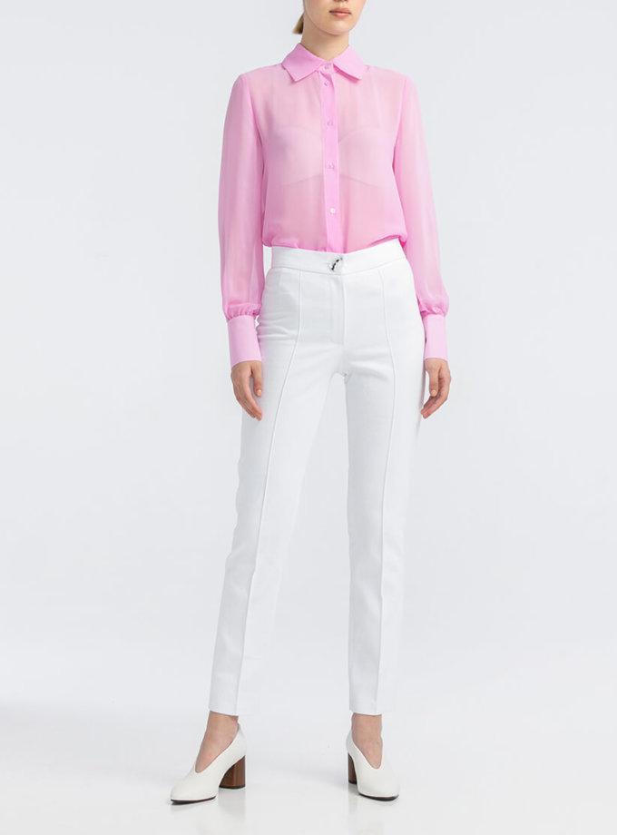 Белые котоновые брюки ALOT_030079, фото 1 - в интернет магазине KAPSULA