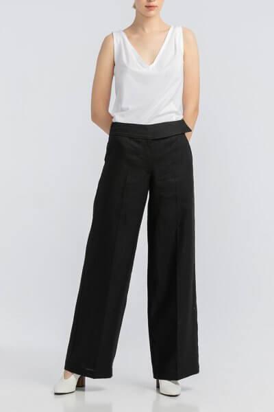 Черные брюки из льна ALOT_030123, фото 1 - в интеренет магазине KAPSULA
