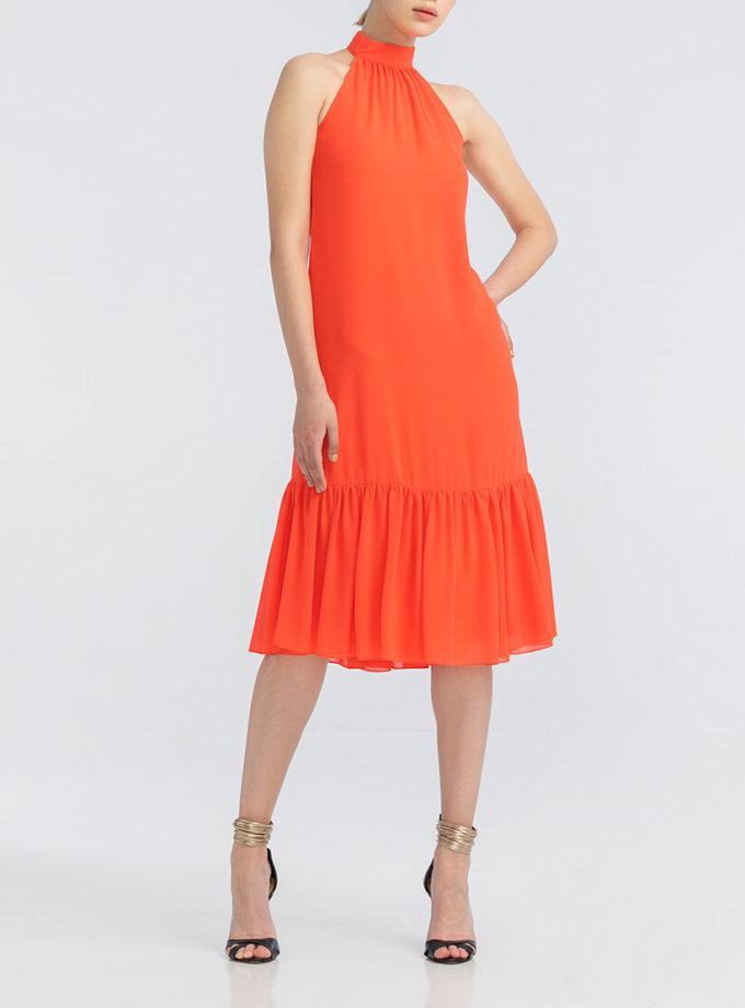 Легкое платье с открытыми плечами ALOT_100352, фото 1 - в интернет магазине KAPSULA