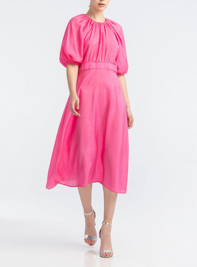 Платье миди с рукавом-буф ALOT_100405, фото 1 - в интернет магазине KAPSULA