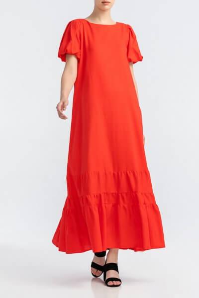 Льняное платье с вырезом на спине ALOT_100412, фото 1 - в интеренет магазине KAPSULA