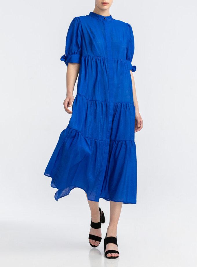 Шифоновое платье миди ALOT_100413, фото 1 - в интернет магазине KAPSULA