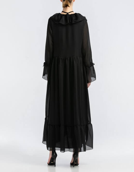 Шифоновое платье макси ALOT_100416, фото 3 - в интеренет магазине KAPSULA