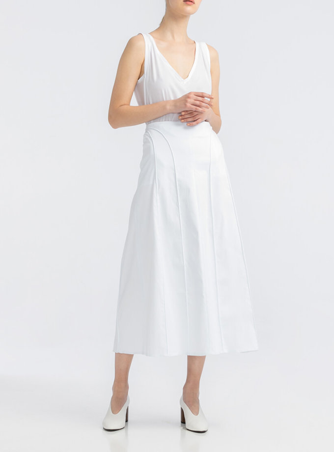 Хлопоковая юбка А-силуэта ALOT_200204, фото 1 - в интернет магазине KAPSULA