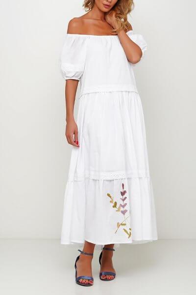 Хлопковое платье с росписью AY_3001, фото 3 - в интеренет магазине KAPSULA