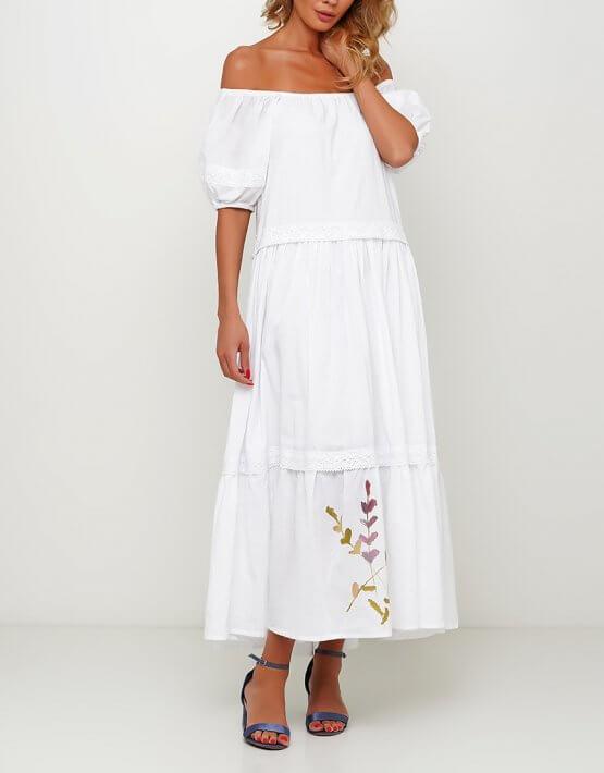 Хлопковое платье с росписью AY_3001, фото 2 - в интеренет магазине KAPSULA