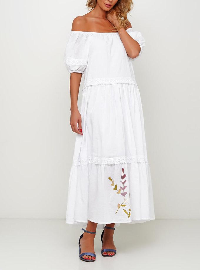 Хлопковое платье с росписью AY_3001, фото 1 - в интернет магазине KAPSULA