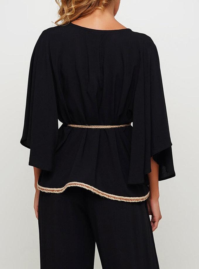 Блуза свободного силуэта с поясом AY_3004, фото 1 - в интернет магазине KAPSULA