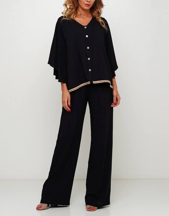 Широкие брюки макси AY_3005, фото 2 - в интеренет магазине KAPSULA