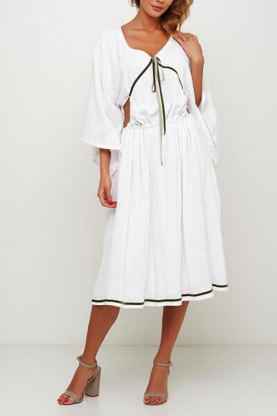 Хлопковое платье с разрезом сзади AY_3006, фото 3 - в интеренет магазине KAPSULA