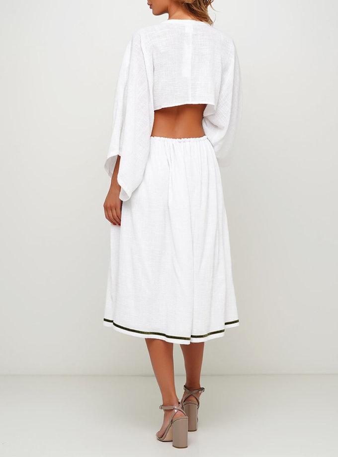 Хлопковое платье с разрезом сзади AY_3006, фото 1 - в интернет магазине KAPSULA