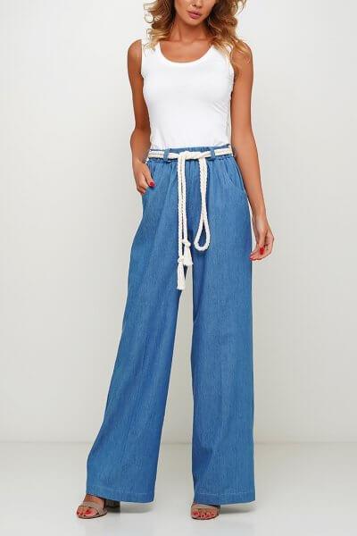Широкие джинсы из хлопка AY_3009, фото 1 - в интеренет магазине KAPSULA