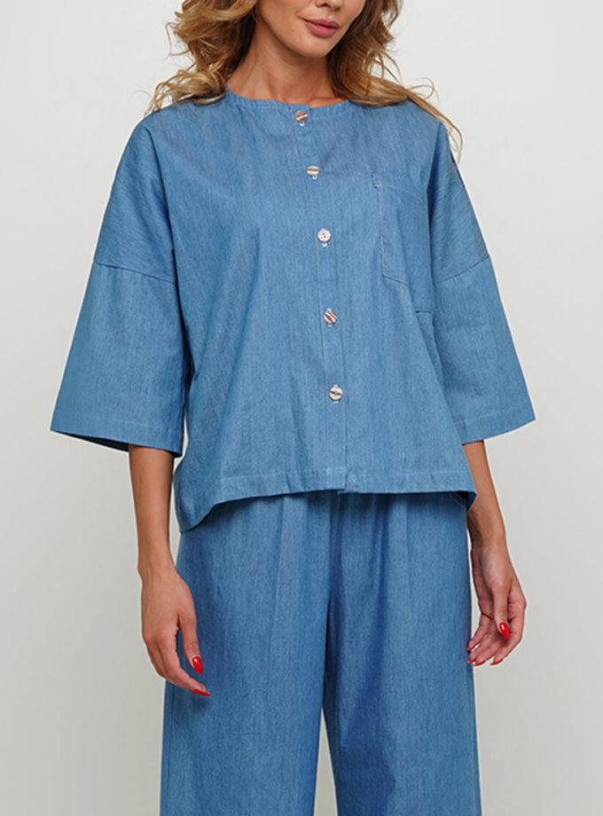 Джинсовая блуза из хлопка AY_3010, фото 1 - в интернет магазине KAPSULA