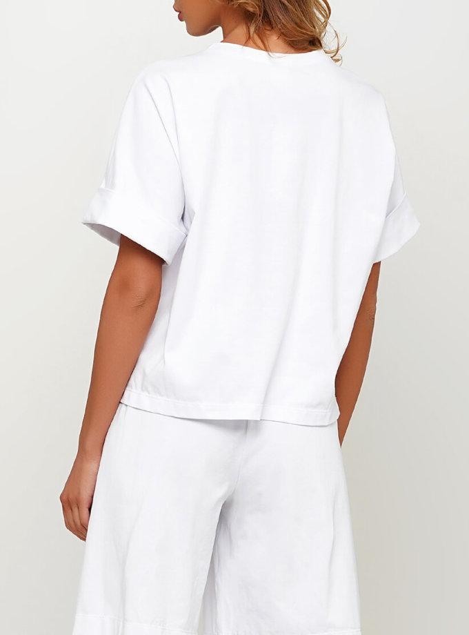 Хлопковая футболка с карманом AY_3011, фото 1 - в интеренет магазине KAPSULA