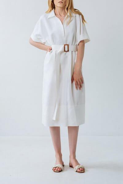 Платье из льна прямого кроя FBSL_SS20_01, фото 1 - в интеренет магазине KAPSULA