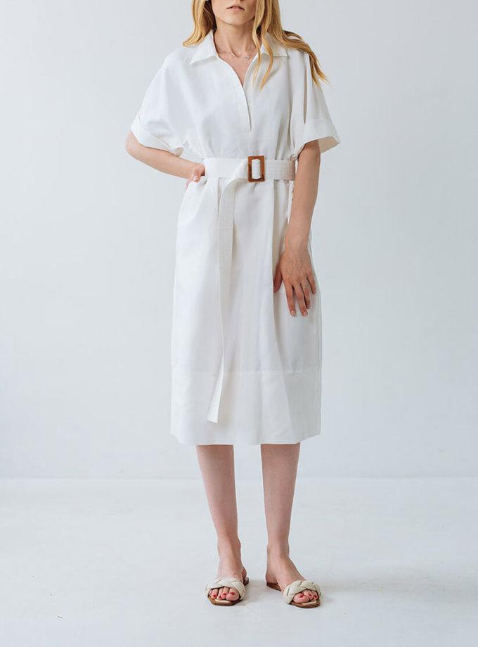 Платье из льна прямого кроя FBSL_SS20_01, фото 1 - в интернет магазине KAPSULA