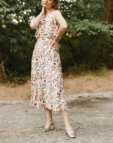 Шифоновое платье с воланами Ella MY4819, фото 6 - в интеренет магазине KAPSULA