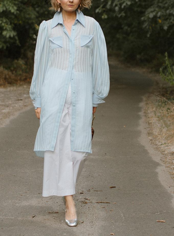 Полупрозрачная рубашка - туника MNTK_MTBLSM1923_outlet, фото 1 - в интернет магазине KAPSULA