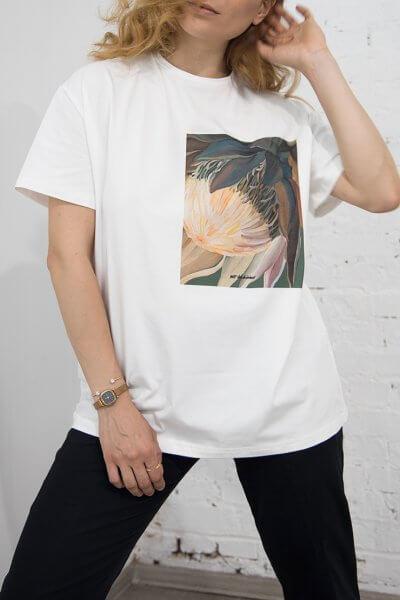 Хлопковая футболка Protea Madiba LSRK_1-469-U-MK-ONE, фото 1 - в интеренет магазине KAPSULA