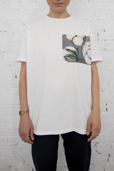 Хлопковая футболка Cotton in gray LSRK_1-494-U-MK-ONE, фото 1 - в интеренет магазине KAPSULA