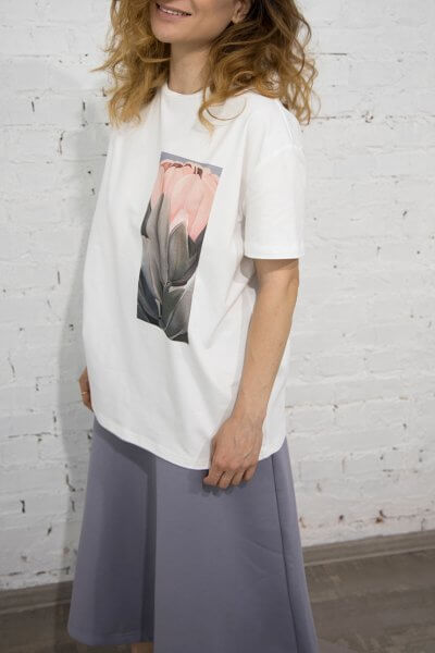 Хлопковая футболка Protea Carnival LSRK_1-514-U-MK-ONE, фото 1 - в интеренет магазине KAPSULA