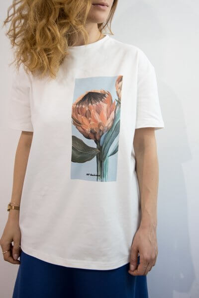 Хлопковая футболка Protea Couple LSRK_1-520-U-MK-ONE, фото 1 - в интеренет магазине KAPSULA