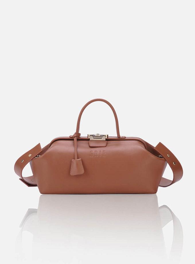 Кожаная сумка-саквояж BAGUETTE GR_BC_BGT_BROWN, фото 1 - в интернет магазине KAPSULA
