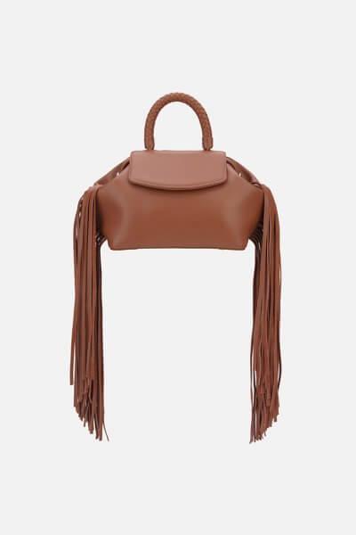 Кожаная сумка-саквояж MIMI FRINGE GR_BC_MM_FR_CARAMEL, фото 1 - в интеренет магазине KAPSULA