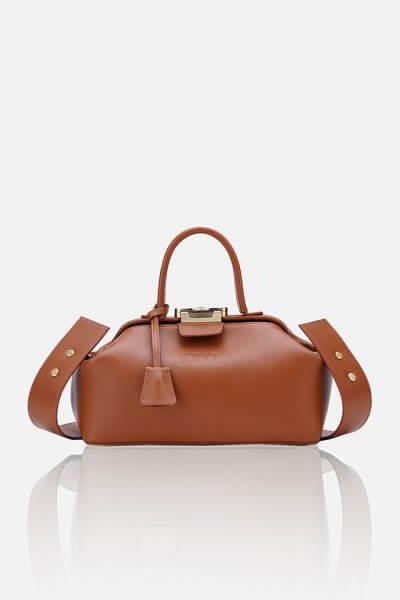 Кожаная сумка-саквояж NOBLE GR_BC_NBL_P_BROWN, фото 3 - в интеренет магазине KAPSULA