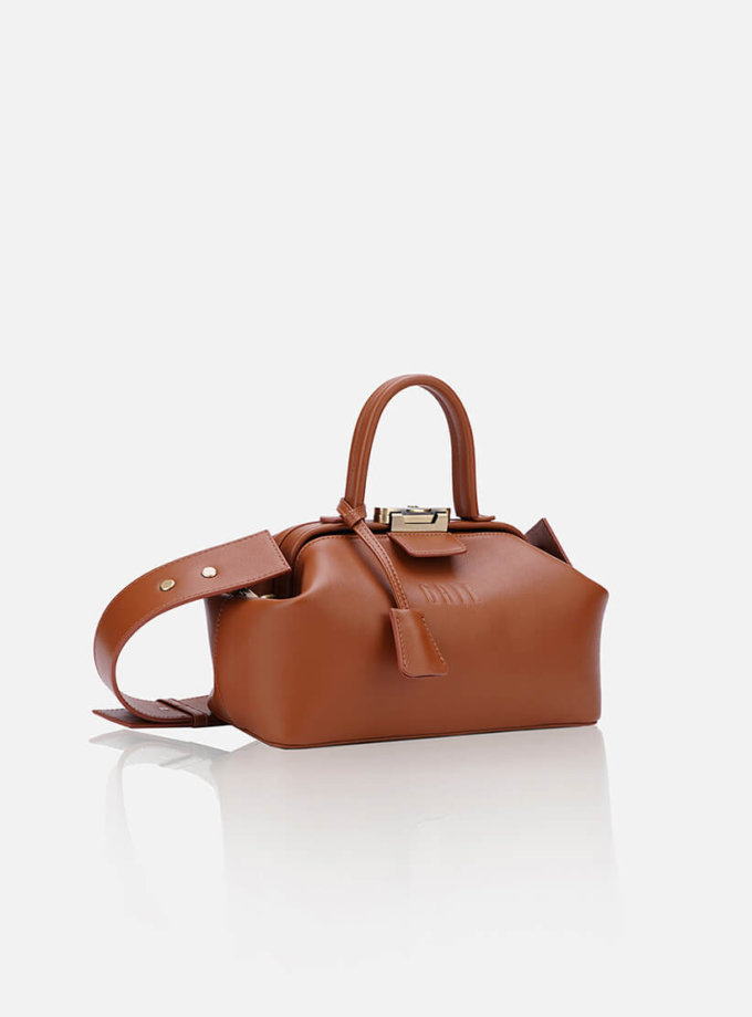 Кожаная сумка-саквояж NOBLE GR_BC_NBL_P_BROWN, фото 1 - в интеренет магазине KAPSULA