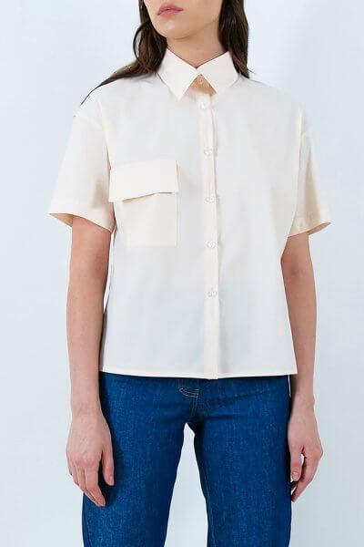 Хлопковая рубашка с накладными карманами IRRO_IR_SM20_SC_008, фото 1 - в интеренет магазине KAPSULA