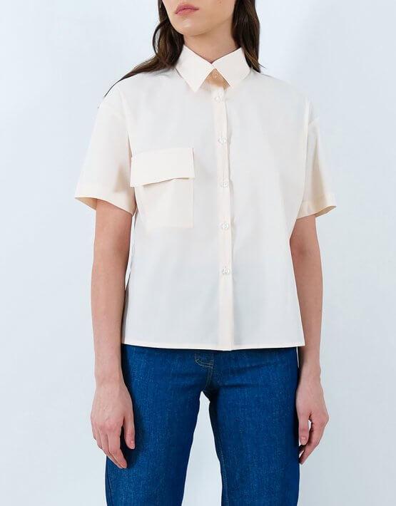 Хлопковая рубашка с накладными карманами IRRO_IR_SM20_SC_008, фото 2 - в интеренет магазине KAPSULA