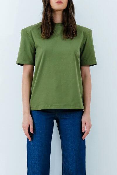 Хлопковая футболка с объемными плечами IRRO_IR_SM20_TG_014, фото 1 - в интеренет магазине KAPSULA
