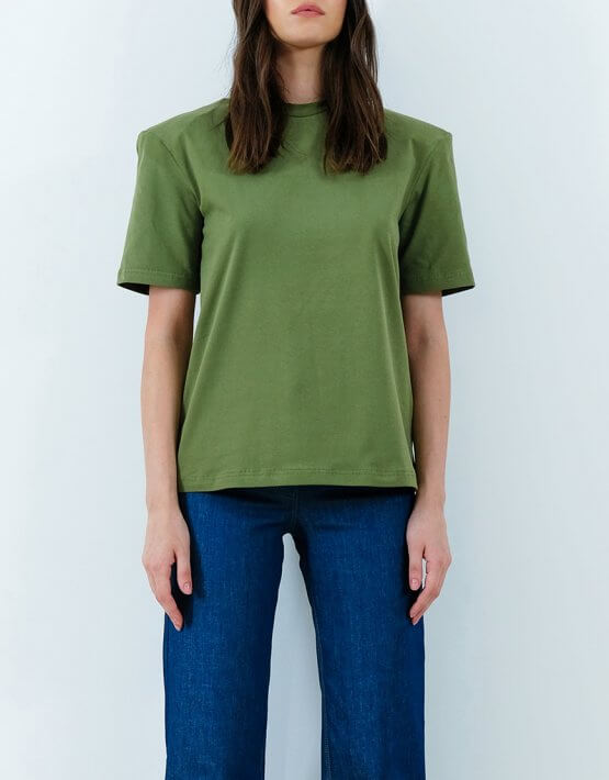 Хлопковая футболка с объемными плечами IRRO_IR_SM20_TG_014, фото 2 - в интеренет магазине KAPSULA