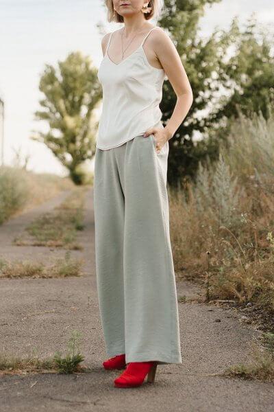 Легкие брюки на резинке MNTK_MTS20TR12, фото 3 - в интеренет магазине KAPSULA