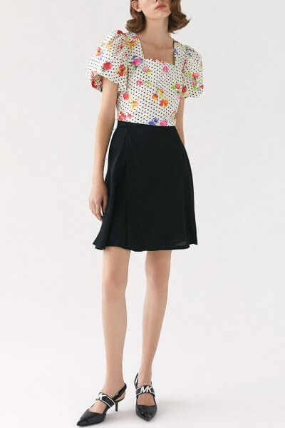 Шелковая юбка Miss MRCH_SS2020-6, фото 6 - в интеренет магазине KAPSULA