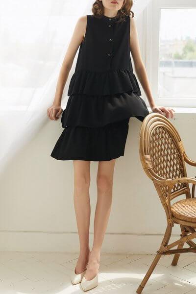 Шелковое платье с воланами Rene MRCH_SS2020-8, фото 1 - в интеренет магазине KAPSULA