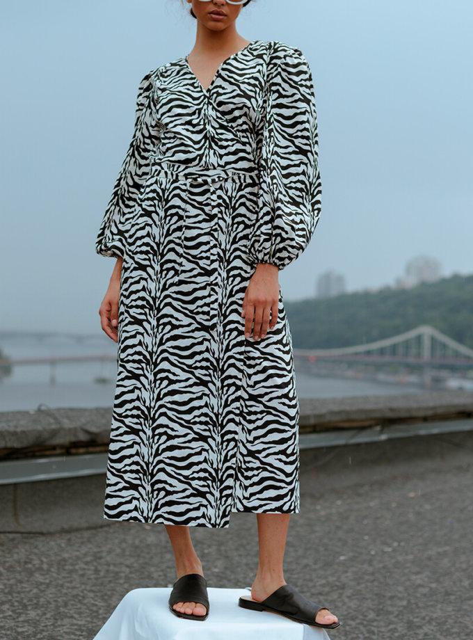 Платье на запах из хлопка NM_391, фото 1 - в интернет магазине KAPSULA