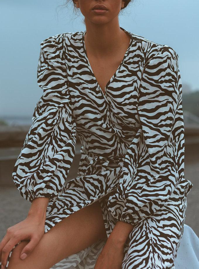 Платье на запах из хлопка NM_391, фото 1 - в интеренет магазине KAPSULA