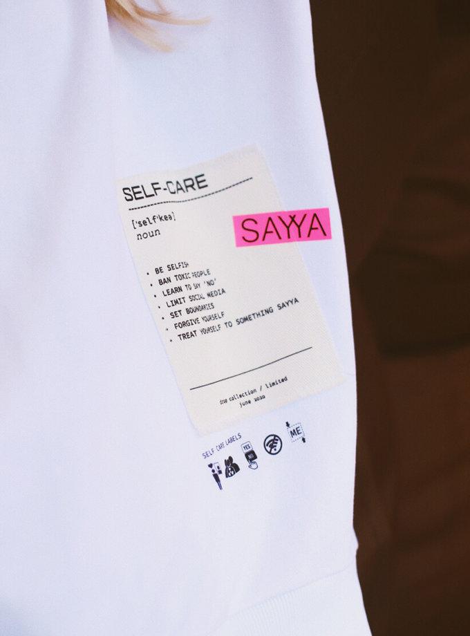 Удлиненный свитшот из хлопка SAYYA_30_SSL1020-1, фото 1 - в интернет магазине KAPSULA