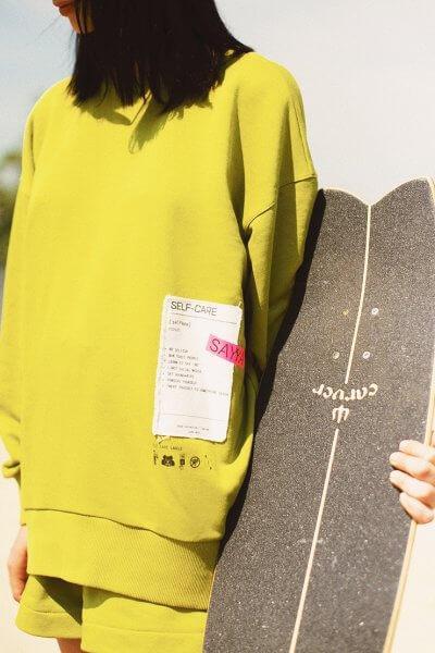 Удлиненный свитшот из хлопка SAYYA_30_SSL1020, фото 1 - в интеренет магазине KAPSULA