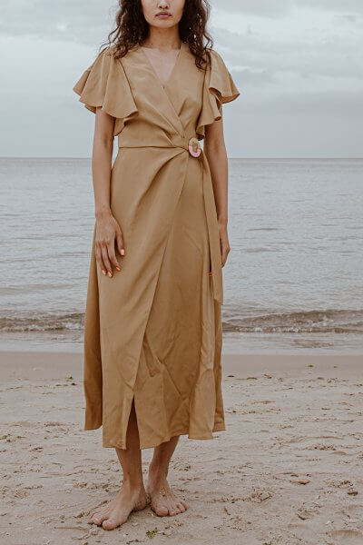 Шелковое платье на запах SAYYA_SS1009, фото 1 - в интеренет магазине KAPSULA
