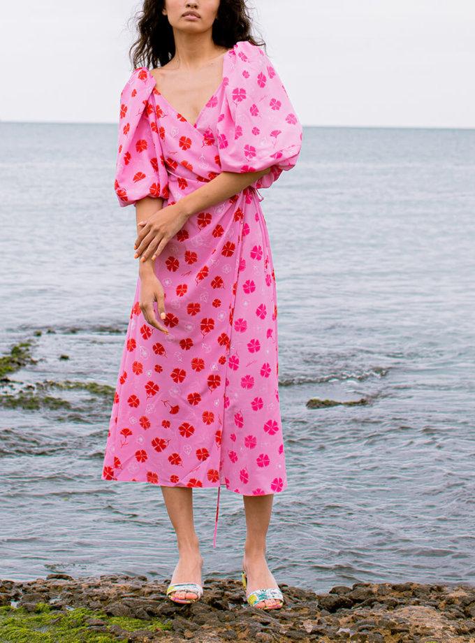 Платье на запах в принт SAYYA_SS1018-1, фото 1 - в интернет магазине KAPSULA