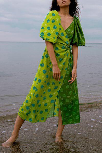 Платье на запах в принт SAYYA_SS1018, фото 1 - в интеренет магазине KAPSULA