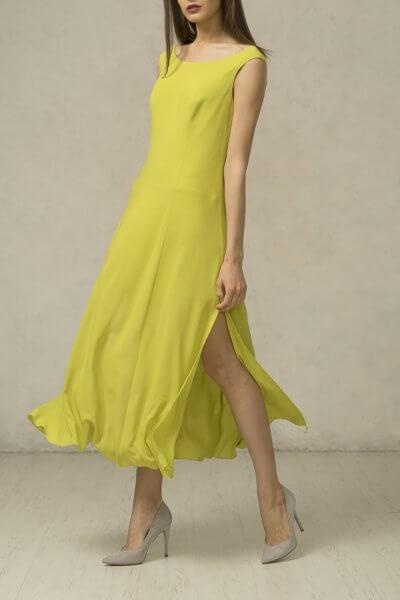 Платье миди с разрезами SHKO_16028001_outlet, фото 5 - в интеренет магазине KAPSULA